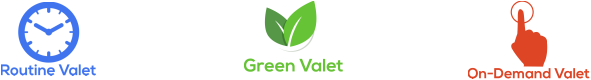 Routine Valet, Green Valet, On-Demand Valet
